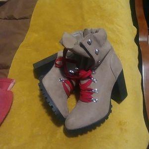 Material girl block heel booties